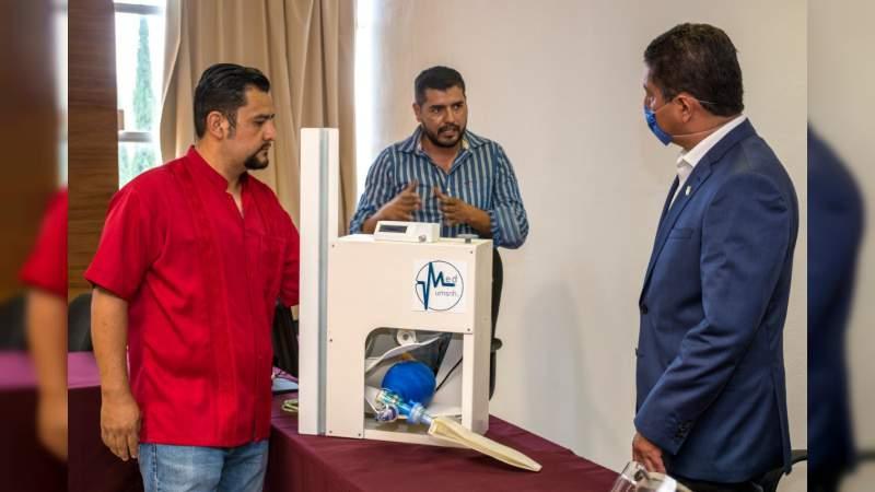 UMSNH diseña prototipo de respirador artificial para enfrentar el covid-19