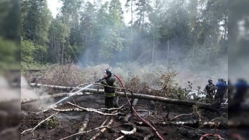 Se registra un fuerte incendio en Chernóbil