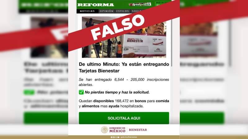 Denuncian intento de fraude en Internetcon Tarjetas de Bienestar