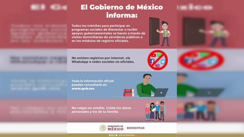 Hacienda denuncia información falsa sobre registro para apoyos del Gobierno de México