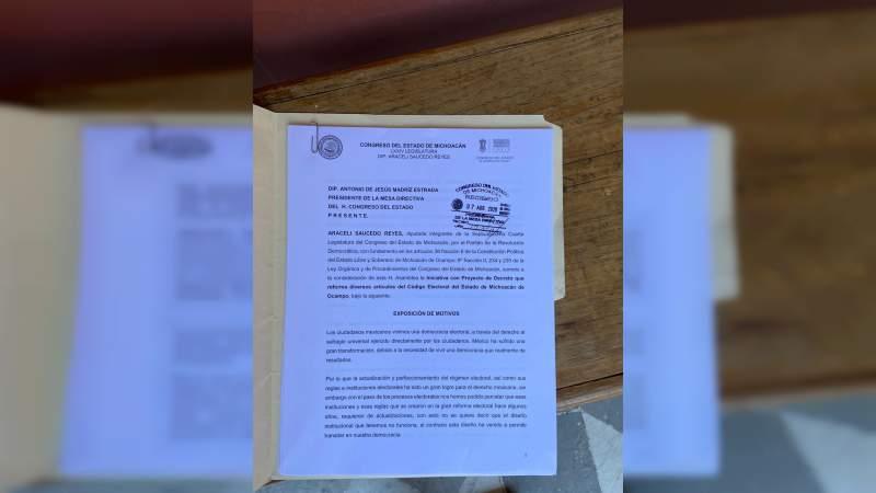 Para que Código Electoral del Estado cuente con mayores elementos jurídicos, Araceli Saucedo presenta iniciativa