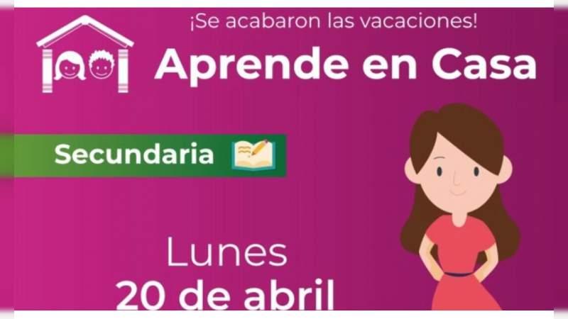 Este lunes 20 de abril, estudiantes de México inician clases en línea