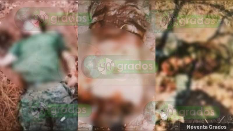 Son 18 los masacrados en La Huerta, Aguililla: Aseguran 16 armas y camiones monstruo