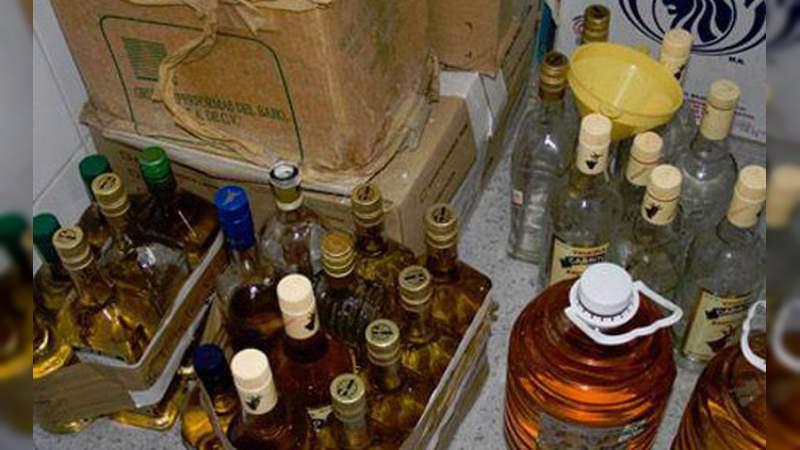 Se dispara venta de alcohol adulterado: 5 de cada 10 botellas lo están