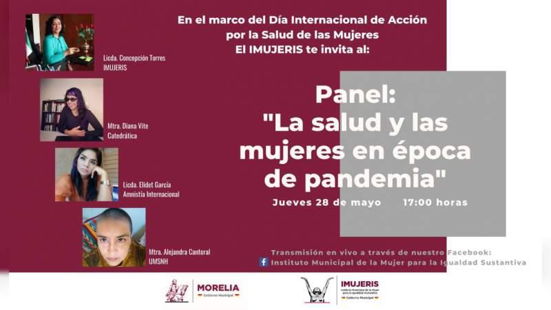 """Transmitirá IMUJERES panel """"La salud y las mujeres en época de pandemia"""""""