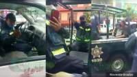 Por mal estacionado, Tránsito de Michoacán arresta a conductor y los mismos agentes se llevan su camioneta al depósito, en Zitácuaro