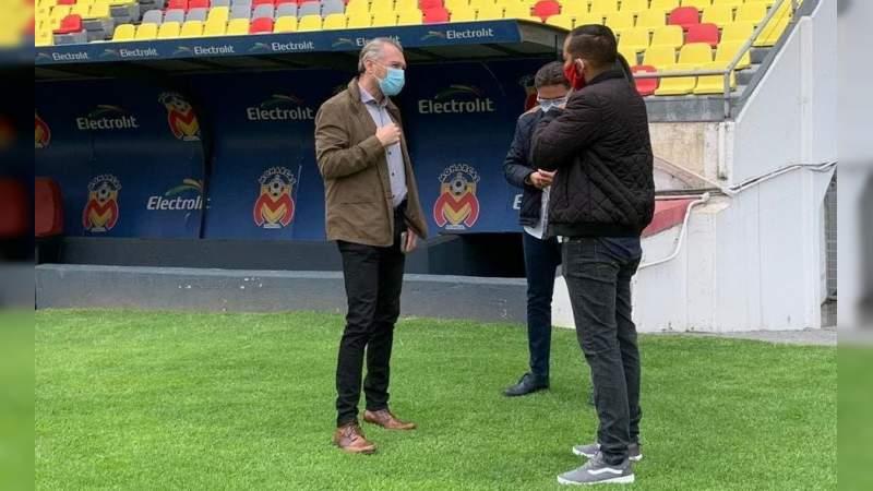 José Luis Higuera visitó hoy el Estadio Morelos, sede del Atlético Morelia