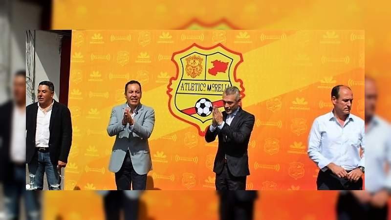 Con un candado de 20 mdd para que no se lo lleven, hoy fue presentado Atlético Morelia