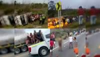 Estalla camión de gasolina mientras era saqueado: Siete muertos y 49 heridos, en Colombia