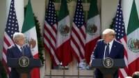 """Se escuchó el """"Viva México"""" en la Casa Blanca, AMLO termina su discurso con la popular frase"""