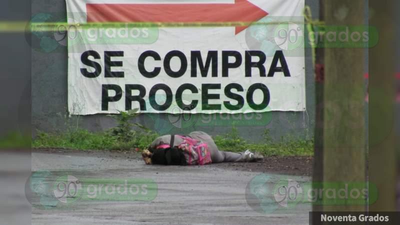 Asesinan a empleada de empresa de mensajería, en Zamora