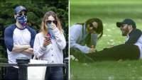 En una segunda cita Chris Evans y Lily James son captados muy divertidos en un parque de Londres
