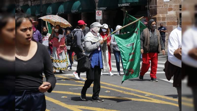 Con marcha y mitin en el centro histórico, la FNLS, exige liberación de presos politicos