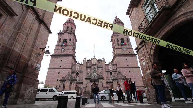 Catedral de Morelia permanecerá cerrada del 9 al 14 de agosto, al contagiarse de Covid-19 un empleado