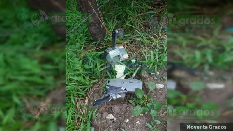 """Qué hay detrás de los supuestos drones con explosivos """"asegurados"""" en Tepalcatepec"""