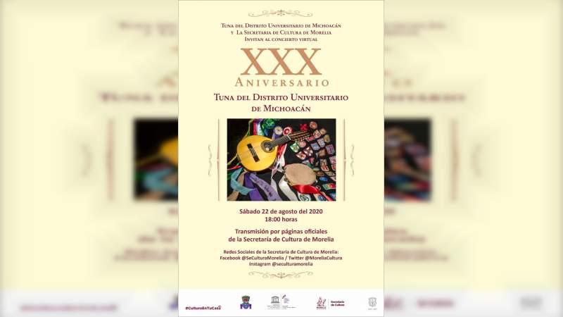 Celebrará TUDIMICH sus 30 años con concierto en las redes sociales de la SeCultura