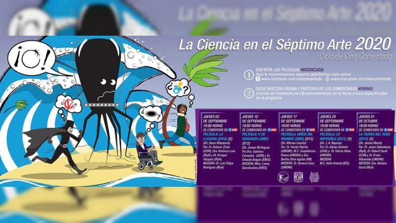 """UNAM Morelia y Universidad Michoacana presentan """"La ciencia en el séptimo arte"""" a distancia"""