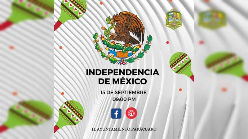 Ceremonias del Grito de Independencia en la región Apatzingán serán de manera virtual