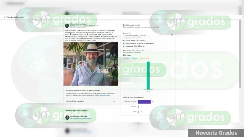 En plena crisis Secretario de Gobierno de Michoacán gasta miles de pesos para proyectar su imagen