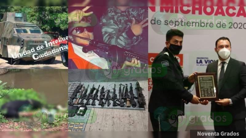 """Michoacán en manos del crimen, pero """"empresarios"""" reconocen labor de seguridad de Silvano Aureoles y premian a su compadre, acusado de corrupto"""