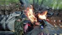 Destruyen campamento implicado en actividades ilícitas en Coalcomán, Michoacán