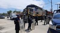 Impide Policia Michoacán y Guardia Nacional bloqueo de vías férreas en LC