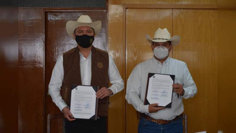 UMSNH firma convenio de colaboración con la unión ganadera de Michoacán