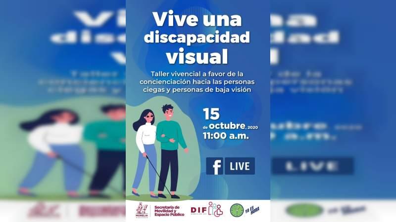 Promueve Ayuntamiento de Morelia concientización a favor de personas con discapacidad visual