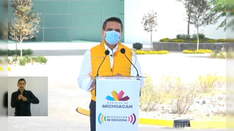 Silvano Aureoles inaugura Ciudad Salud