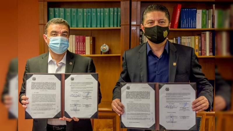 UMSNH y la Cámara Nacional de la Industria de la Transformación signan convenio de colaboración