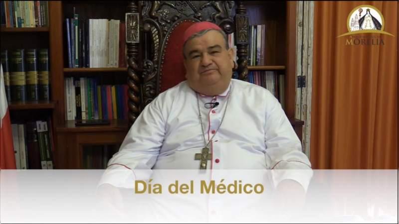 Carlos Garfias, arzobispo de Morelia expresa su reconocimiento a los médicos en su día