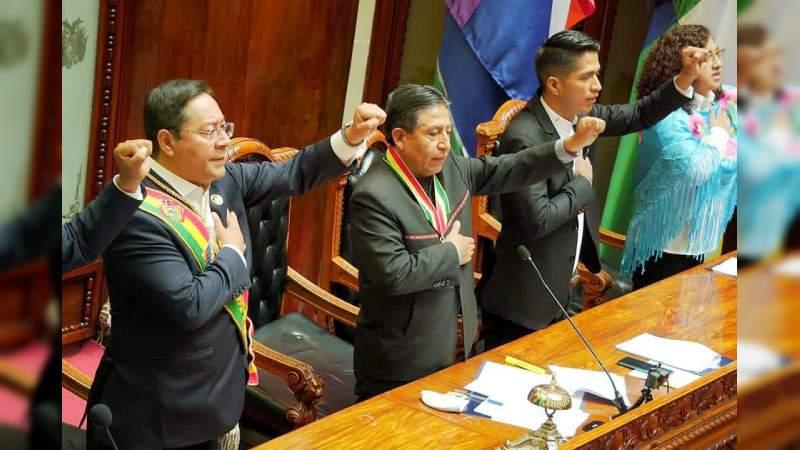 Luis Arce rinde protesta como presidente de Bolivia por los próximos 5 años