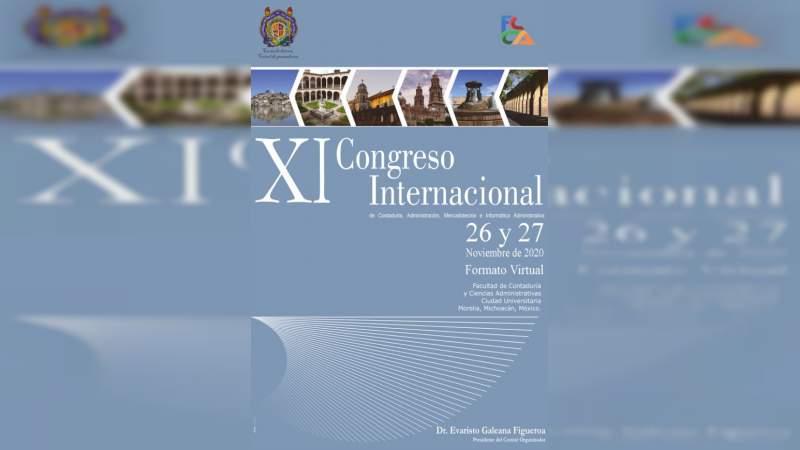UMSNH realizará este 26 y 27 de noviembre XI Congreso Internacional de Contaduría