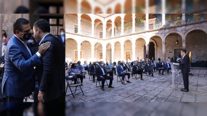Gobierno de Michoacán le organiza a Carlos Herrera el arranque de su campaña a la Gubernatura