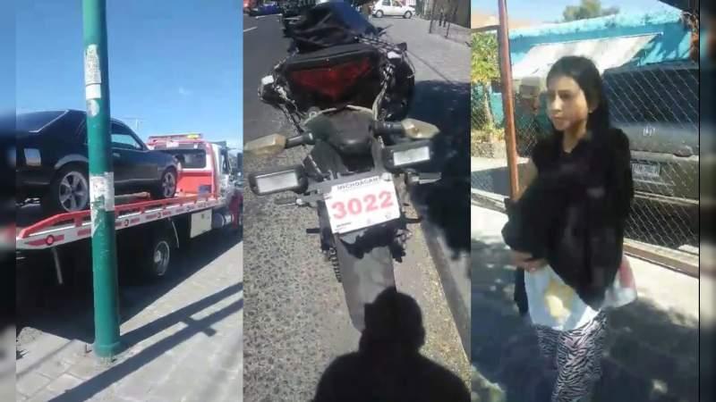 Tránsito de Michoacán deja sin coche a familia con recién nacido: Policías llevan placa pintada y huyen al ser grabados