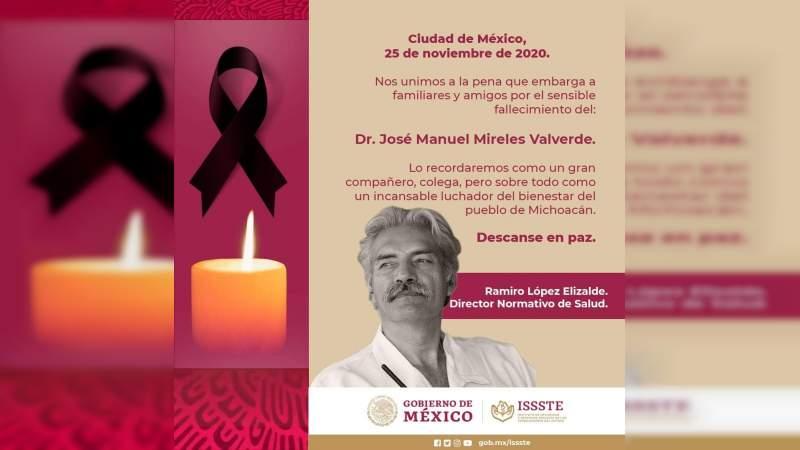 De manera oficial familiares del médico José Manuel Mireles Valverde falleció a causa de Covid-19