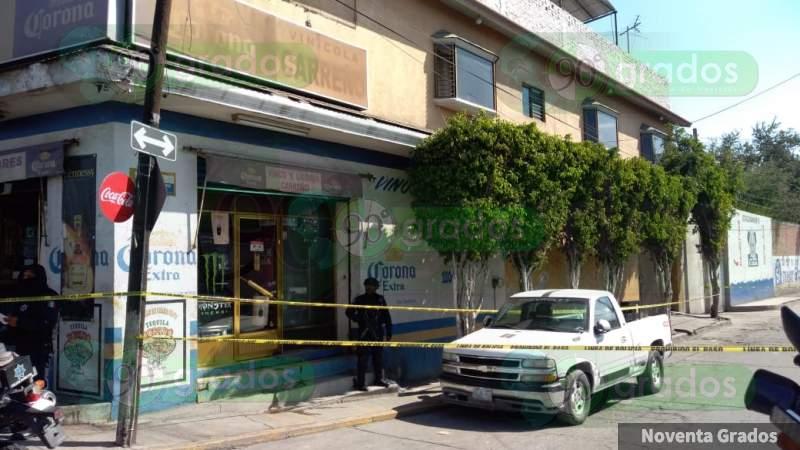 Tiroteo en vinatería deja un muerto y tres heridos, en Celaya