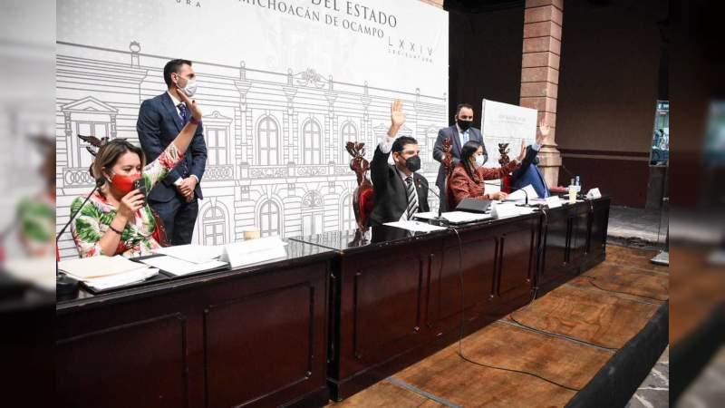 Diputados aprueban reformas a Ley Orgánica y de Procedimientos del Congreso de Michoacán