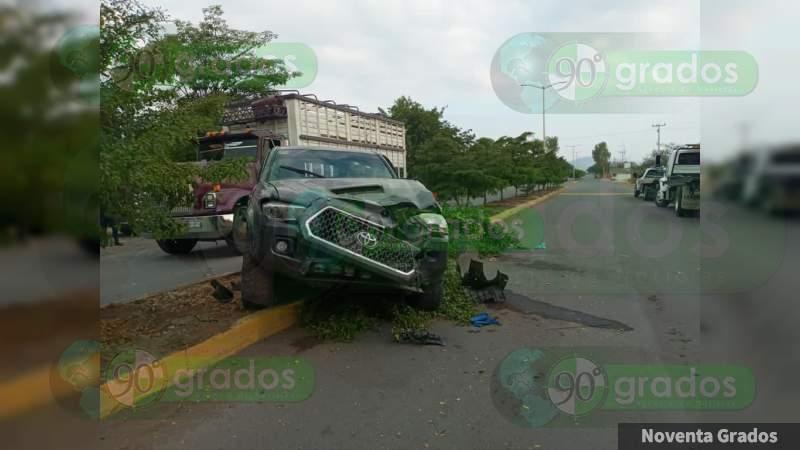 Aseguran cartuchos, cargadores y tres vehículos tras balacera en Buenavista
