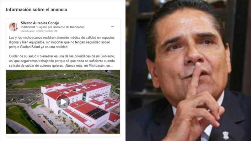Aureoles gasta miles de pesos en un solo anuncio en redes sociales