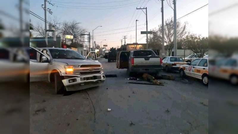 """Encontronazo entre la """"Tropa del Infierno"""" y Ejército deja 5 sicarios muertos en Nuevo Laredo"""