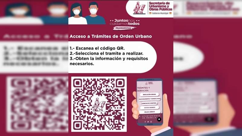 Gobierno de Morelia cuenta con código QR para dar a conocer requisitos de la Dirección de Orden Urbano