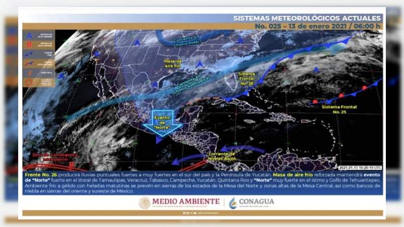 Continuarán las bajas temperaturas en el estado de Michoacán