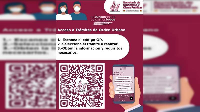 Morelia cuenta con código QR para dar a conocer requisitos de la Dirección de Orden Urbano