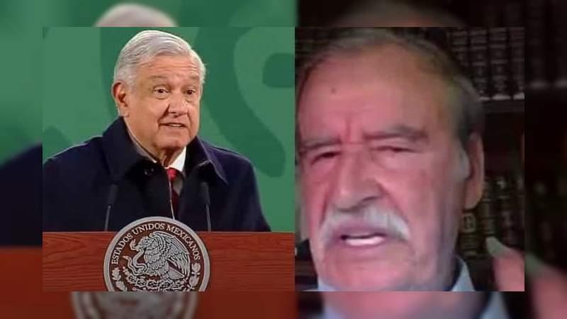 """Vicente Fox se lanza contra AMLO: """"Que se calle la chachalaca en las mañaneras"""""""