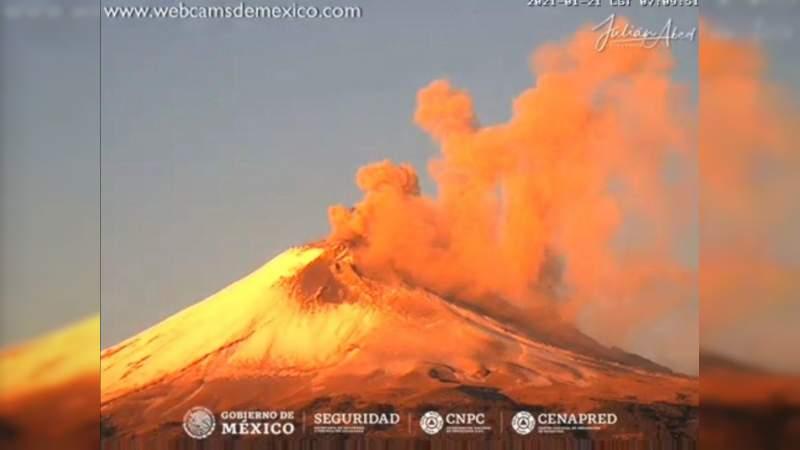 El Popocatépetl permanece en Amarillo Fase 2 por actividad volcánica