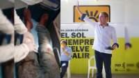 Como candidato de Aureoles a Gobernador, Herrera Tello se desentiende de la violencia en Zitácuaro