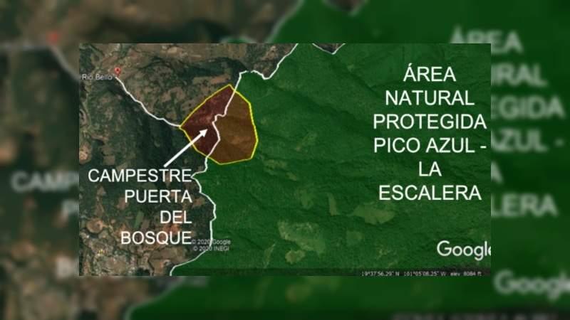 Se construye ilegalmente un fraccionamiento a las faldas de Pico Azul: MCDL