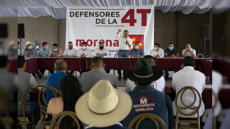 Región de Tierra Caliente, cierra filas en favor del proyecto de Raúl Morón