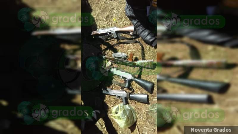 Herido un soldado en tiroteo contra Los Correa - Familia Michoacana en Los Azufres: Hay 3 detenidos